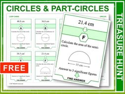 Circles and Part-circles (Treasure Hunt)