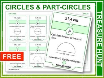 Circles and Part-circles (Treasure Hunt)