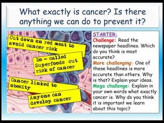 Cancer Awareness PSHE