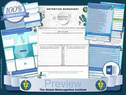 Detention-Reflection-Worksheets---Self-Regulation-of-Behaviour.zip