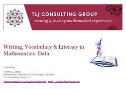 Writing, Vocabulary & Literacy in Mathematics: Data