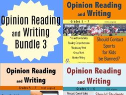 Opinion Reading and Writing Bundle 3