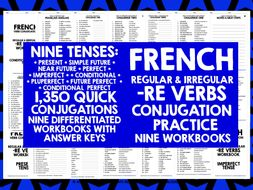 FRENCH A LEVEL -RE VERBS CONJUGATION PRACTICE