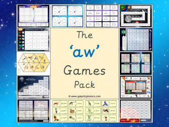 The 'aw' Phonics Games Pack