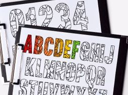 """Alphabet and Numbers coloring pages 