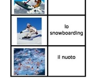 Sports in Italian Card Games