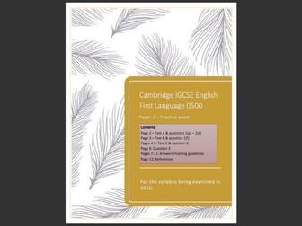 Cambridge IGCSE 0500 English Language Practice Paper 1