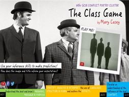 The Class Game, Mary Casey:  Conflict Cluster 2017, New GCSE English Literature (Edexcel)