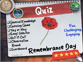 Remembrance Quiz