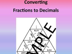 Converting Fractions to Decimals – Math Puzzle