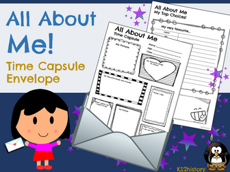 All About Me  - Time Capsules (First Day Back to School)