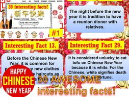 CHINESE NEW YEAR 30 INTERESTING FACTS AWESOME TUTOR TIME ACTIVITY.