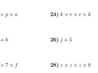 Algebraic manipulation worksheet (with solutions)