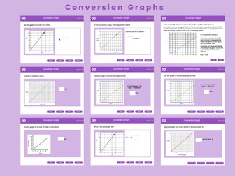 Conversion Graphs - Year 7, Key stage 3, (US 6th grade)