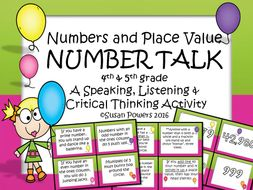 Number and Place Value Drama Circle Activity