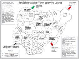 Lagos: AQA GCSE Differentiated Revision Map Activity