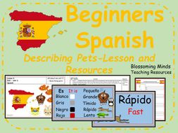 Spanish lesson and resources - Describing pets