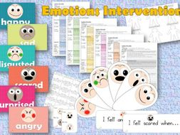 Emotions Intervention - Mental Health, emotional intelligence, emotional literacy