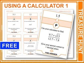 Using a Calculator: Part 1 (Treasure Hunt)