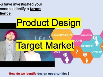 Users and Target Market Design Theory
