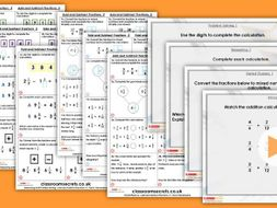 Year 6 Add and Subtract Fractions 2 Autumn Block 3 Step 6 Maths Lesson Pack