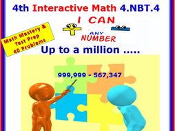 4.NBT.4 Math Interactive Test Prep – Add & Subtract any Number - 4th Grade