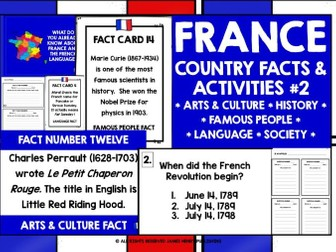 PRIMARY FRENCH FACTS ABOUT FRANCE 2