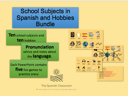 Hobbies and School Subjects in Spanish