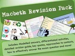 Macbeth GCSE 9-1 Exam Practice / Revision