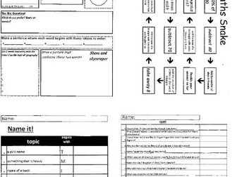 Form Tutor  Activity 70 page pdf booket - form tutor resource and quiz