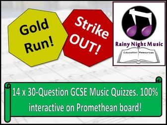 GCSE Music Revision Quiz Activities