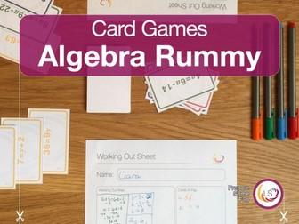 Algebra Rummy Card Game