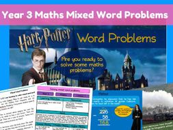 Year 3 Mixed Word problems - Harry Potter themed