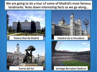 Tour of Madrid - Exploring Spain - KS2