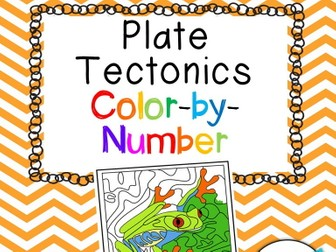 Plate Tectonics Color-by-Number