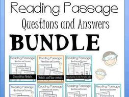 Periodic Table Reading Passage Bundle