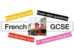 French - GCSE - reading booklet - exam style questions