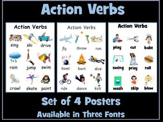 Action Verbs Posters