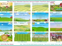 Embedded Questions Barnyard English PowerPoint Game