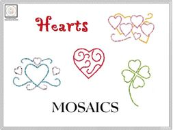 Hearts Mosaics Templates & Instructions