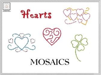Hearts Mosaics Templates & Instructions