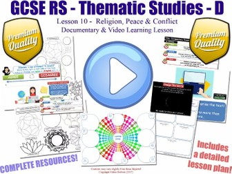 Documentary & Video Worksheet Lesson [GCSE RS - Religion, Peace & Conflict - L10/10] Theme D