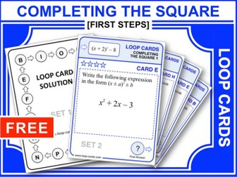 Completing the Square 1 (Loop Cards)