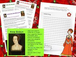 Henry VIII and Anne Boleyn double activity Tudors