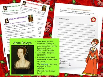 Henry VIII and Anne Boleyn double activity Tudors