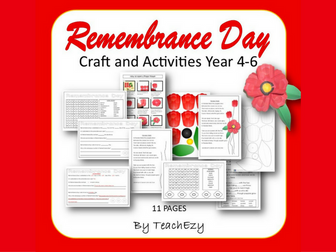 Remembrance Day Activities Years 3-6