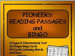 Reading Passages and Bingo - American Pioneers
