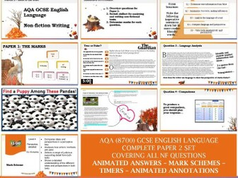 AQA 8700/2 English Language - Paper 2 FULL SET