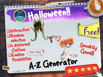 Halloween A-Z Generator