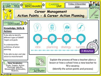 SMART Targets, Action Points Career Planning